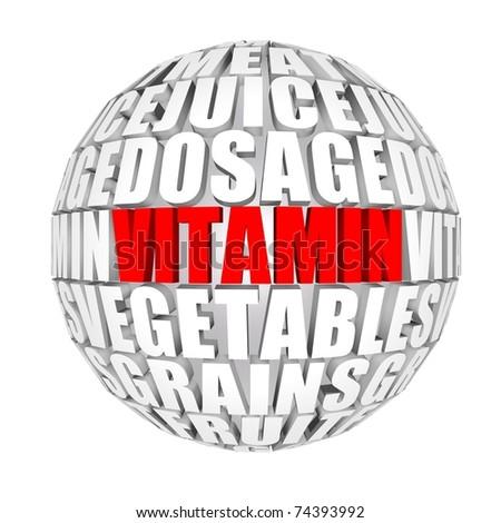 vitamins around us - stock photo