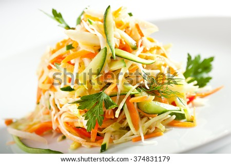 Vitamins Freshness Salad - stock photo