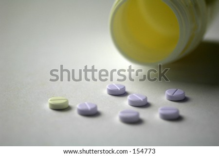 Vitamins on a table