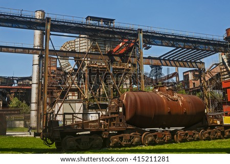Vitkovice Steel in Ostrava - stock photo