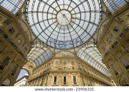 vitorio emanuelle galeries at milan, italy - stock photo