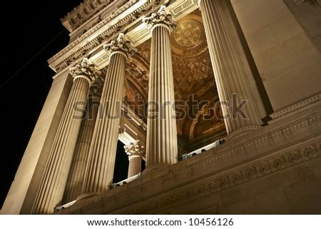 Vittoriano in the night - stock photo