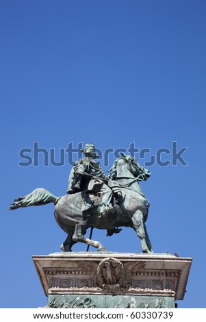 Vittorio Emanuele monument in Milan - stock photo