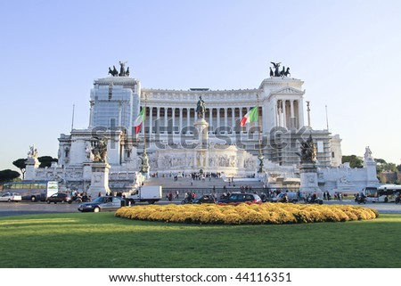 Vittorio Emanuele Monument in Rome - stock photo