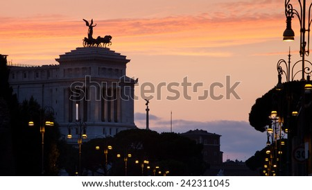 Vittorio Emmanual Monument - stock photo