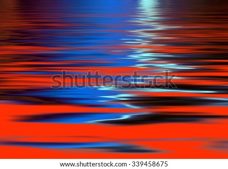 Vivid abstract wave pattern in red and blue - stock photo