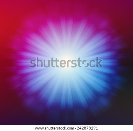 Vivid blue red with fullcolor sparking Design background of black-white luminous rays,moving around when looking it'amazing look like eye - stock photo
