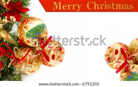 vivid Christmas layout - stock photo