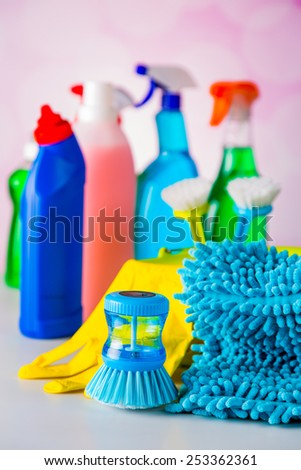 Vivid colors in washing concept