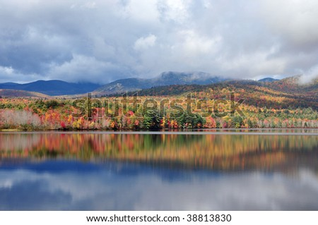 Vivid foliage at Lake Chocorua, New Hampshire