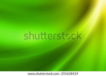 vivid green gradient abstract background with glossy curve line - stock photo