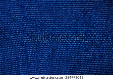 Vivid Navy Blue Denim Jean Fabric, Prepare Cut to use. / Concept and Idea of Denim Industry, Sewing and Fashion, Vintage Rustic Style. Pattern, Background, Wallpaper and Textured. - stock photo