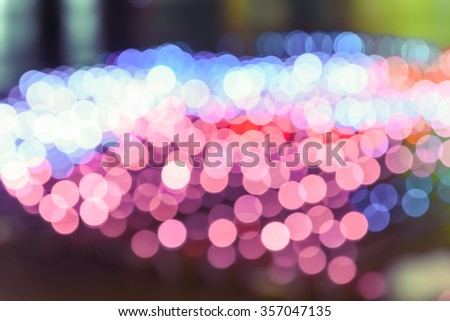 Vivid pink abstract background of Defocused Lights. Blur Light, Out of Focus, vivid Bohek, Holidays light. Process color tone is matched with Valentineâ??s Day background - stock photo