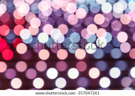 Vivid pink abstract background of Defocused Lights. Blur Light, Out of Focus, vivid Bohek, Holidays light. Process color tone is matched with Valentine Day background - stock photo