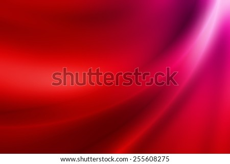 vivid red gradient abstract background with glossy curve line - stock photo