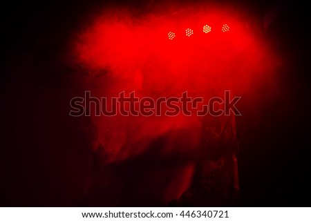 Vivid Red Light and dark background of show and concert