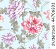 Vivid repeating floral background - stock photo