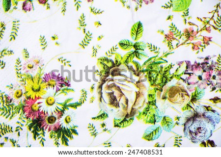 Vivid repeating floral - For easy making seamless pattern use it - stock photo