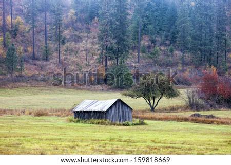 Vivid rural landscape near Rose Lake, Washington. - stock photo
