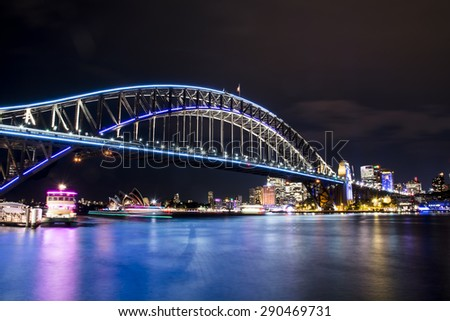 Vivid Sydney - Bridge - stock photo