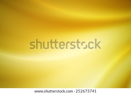 vivid yellow curve abstract background - stock photo