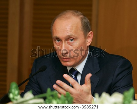 Vladimir Putin - the president of Russia - stock photo
