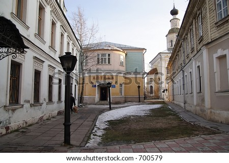 Vladimir's back streets - stock photo
