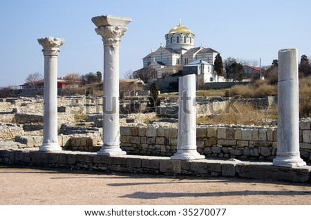 Vladimir's cathedral, Chersonese. Sevastopol. - stock photo