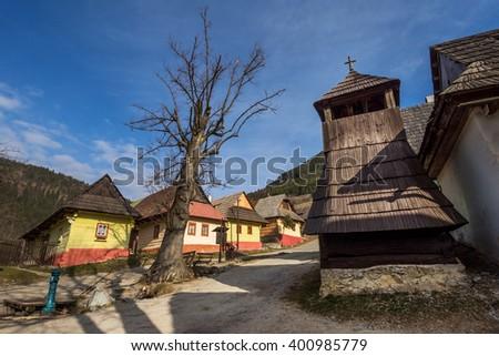 Vlkolinec (UNESCO) Velka Fatra mountains, Slovakia - stock photo