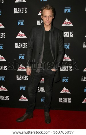 vLOS ANGELES - JAN 14:  Chris Geere at the Baskets Red Carpet Event at the Pacific Design Center on January 14, 2016 in West Hollywood, CA - stock photo