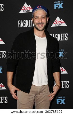 vLOS ANGELES - JAN 14:  Desmin Borges at the Baskets Red Carpet Event at the Pacific Design Center on January 14, 2016 in West Hollywood, CA - stock photo