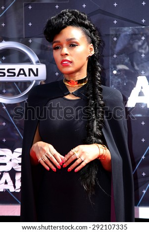 vLOS ANGELES - JUN 28:  Janelle Monae at the 2015 BET Awards - Arrivals at the Microsoft Theater on June 28, 2015 in Los Angeles, CA - stock photo