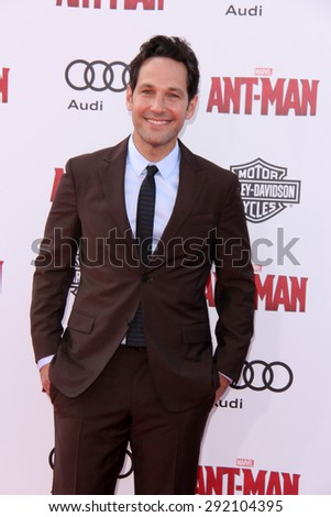 "vLOS ANGELES - JUN 29:  Paul Rudd at the ""Ant-Man"" Los Angeles Premiere at the Dolby Theater on June 29, 2015 in Los Angeles, CA - stock photo"