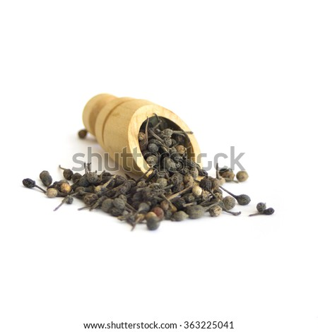 Voatsiperifery pipper  collection on white - stock photo