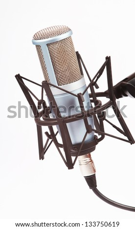 Vocal microphone - stock photo