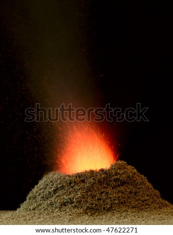 Vocano experiment - stock photo