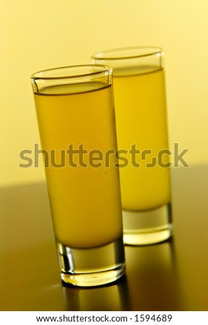 Vodka and Pineapple Shots