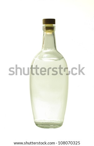 Vodka Bottle . Isolated on white background