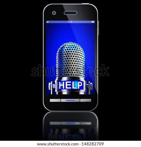 voice control - stock photo