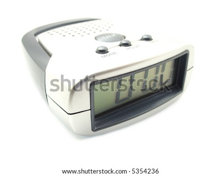 voice digital clock isolated on white background