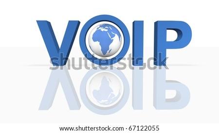 Voice Over IP - stock photo