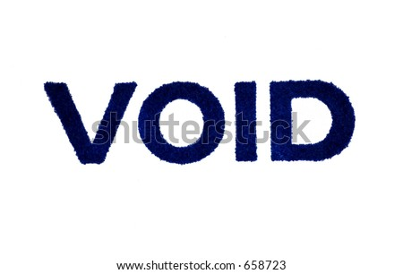 Void - old ink stamp - stock photo