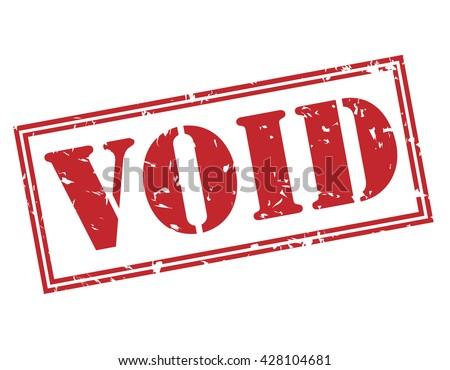 void stamp - stock photo
