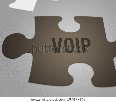 VOIP Puzzle - stock photo