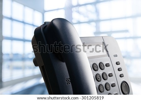 Voip, Telephone, Conference Call. - stock photo