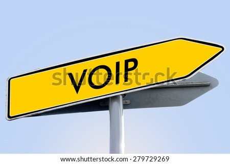 voip word on yellow roadsign concept - stock photo