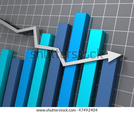 Volatile business chart - stock photo