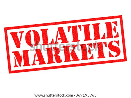 VOLATILE MARKETS red Rubber Stamp over a white background. - stock photo