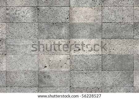 volcanic bazalt stone texture - architecture background - stock photo