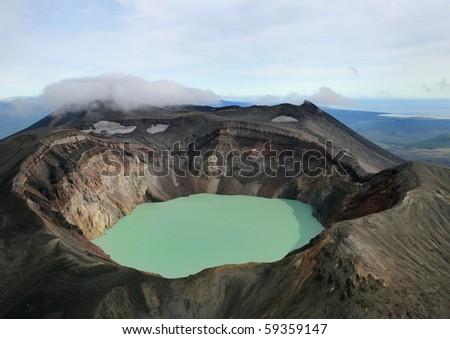 Volcanic crater - stock photo